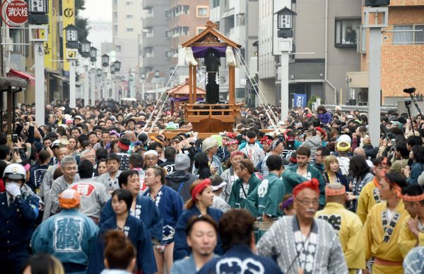 Thousands attended the annual rite, which was held Sunday in a Tokyo suburb.