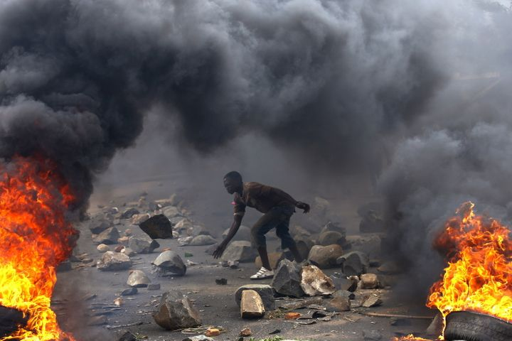 Violence broke out following a brutal crackdown on protests against President Pierre Nkurunziza, after his controversial anno