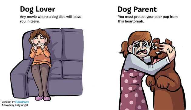 Hilarious Comic Nails What It's Like To Be A Dog Parent vs. A Dog Lover 570292761500002a000b3f43