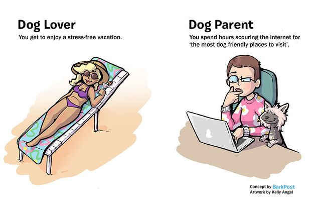Hilarious Comic Nails What It's Like To Be A Dog Parent vs. A Dog Lover 570292fe150000ad000b3f45