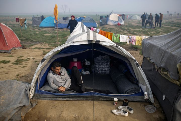 Conditions have been worsening at themakeshift camp for migrants and refugees at the Greek-Macedonian border near the v