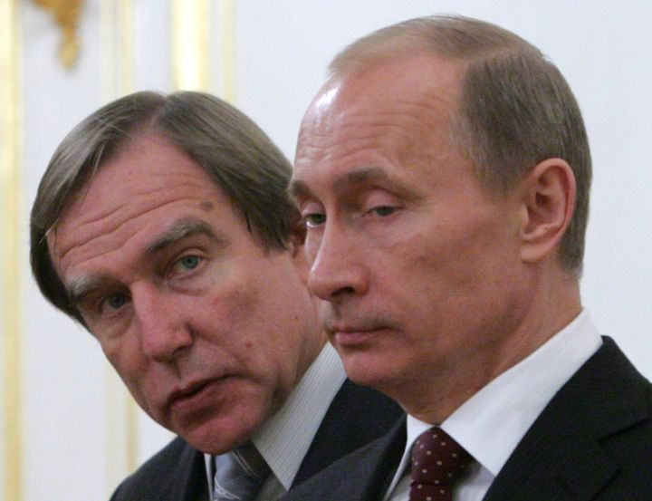 Russian billionaire and businessman Sergei Roldugin with President Vladimir Putin. The Panama Papers show a trail fromR
