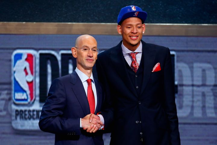 """About NBA Commissioner Adam Silver's generous act, Austin recalled,""""It wasn't until he stopped the draft that I r"""