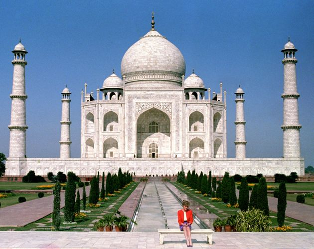 Diana, Princess of Wales' visit to the Taj Mahal alone during her trip to India with Prince...