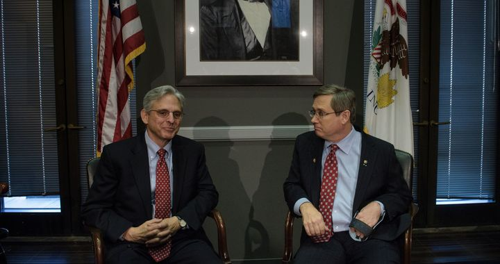 Garland met with Sen. Mark Kirk (R-Ill.) in March.