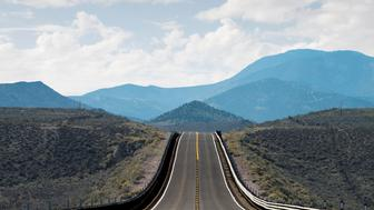 Route 93 in eastern Nevada (digital composite)