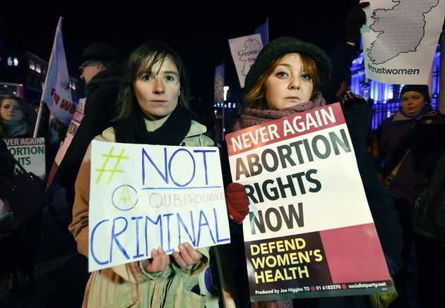 Pro Choice activists rally outside City Hall in