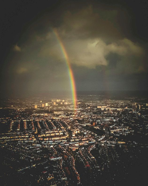 Drone Photographer's Stunning Rainbow Picture Proves That Drones Aren't All