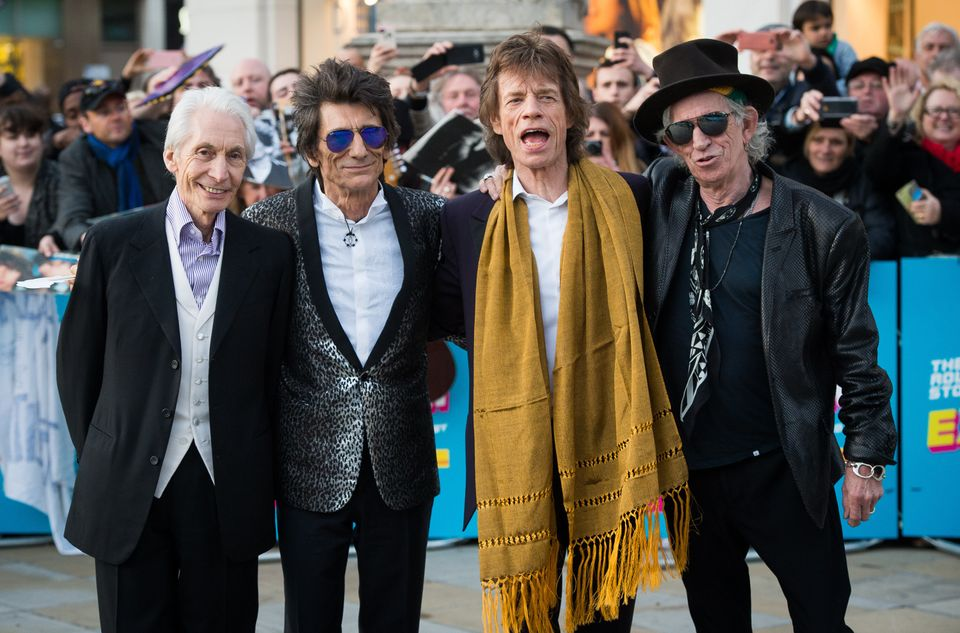 Rolling Stones Wrinkly Rockers Perform With Their Younger