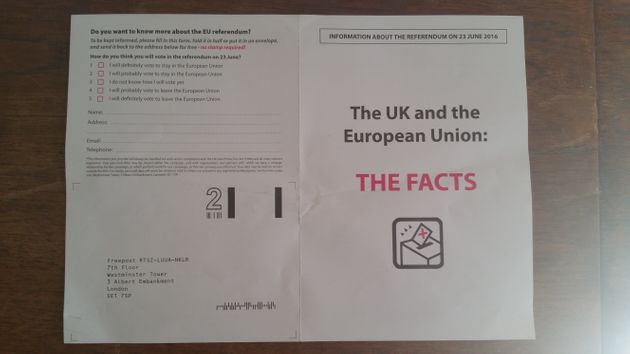 Vote Leave Accused Of Deception For Hiding Name From EU 'Facts'