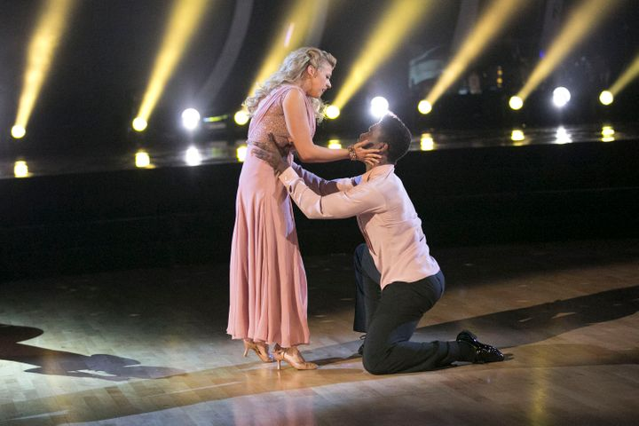 Jodie Sweetin and Keo Motsepe perform on 'Dancing with the Stars,' live, Monday April 4.