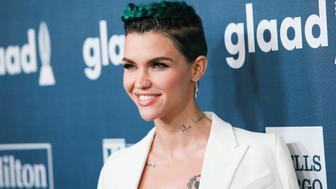 BEVERLY HILLS, CALIFORNIA - APRIL 02:  Honoree Ruby Rose arrives at the 27th Annual GLAAD Media Awards at The Beverly Hilton Hotel on April 2, 2016 in Beverly Hills, California.  (Photo by David Livingston/Getty Images)