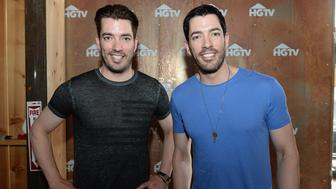 NASHVILLE, TN - JUNE 13:  Property Brothers hosts Jonathan Scott (L) and Drew Scott appear at the HGTV Lodge during CMA Music Fest on June 13, 2015 in Nashville, Tennessee.  (Photo by Jason Davis/Getty Images for HGTV)