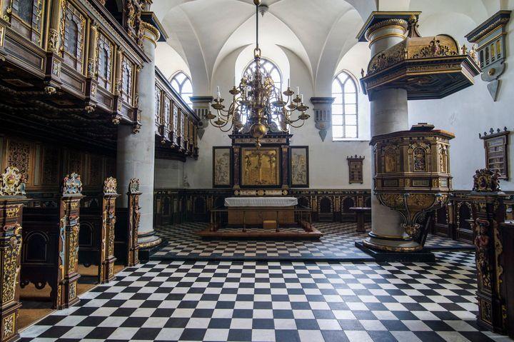 Chapel inside Kronborg Castle.