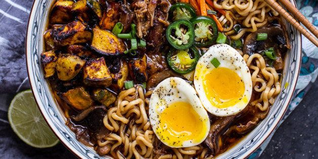 "Get the <a href=""http://www.halfbakedharvest.com/crockpot-crispy-caramelized-pork-ramen-noodle-soup-wcurry-roasted-acorn-squash/"" target=""_blank"" data-beacon=""{""p"":{""mnid"":""entry_text"",""lnid"":""citation"",""mpid"":37}}"">Crockpot Crispy Caramelized Pork Ramen Noodle Soup With Curry Roasted Acorn Squash recipe</a> from Half Baked Harvest."