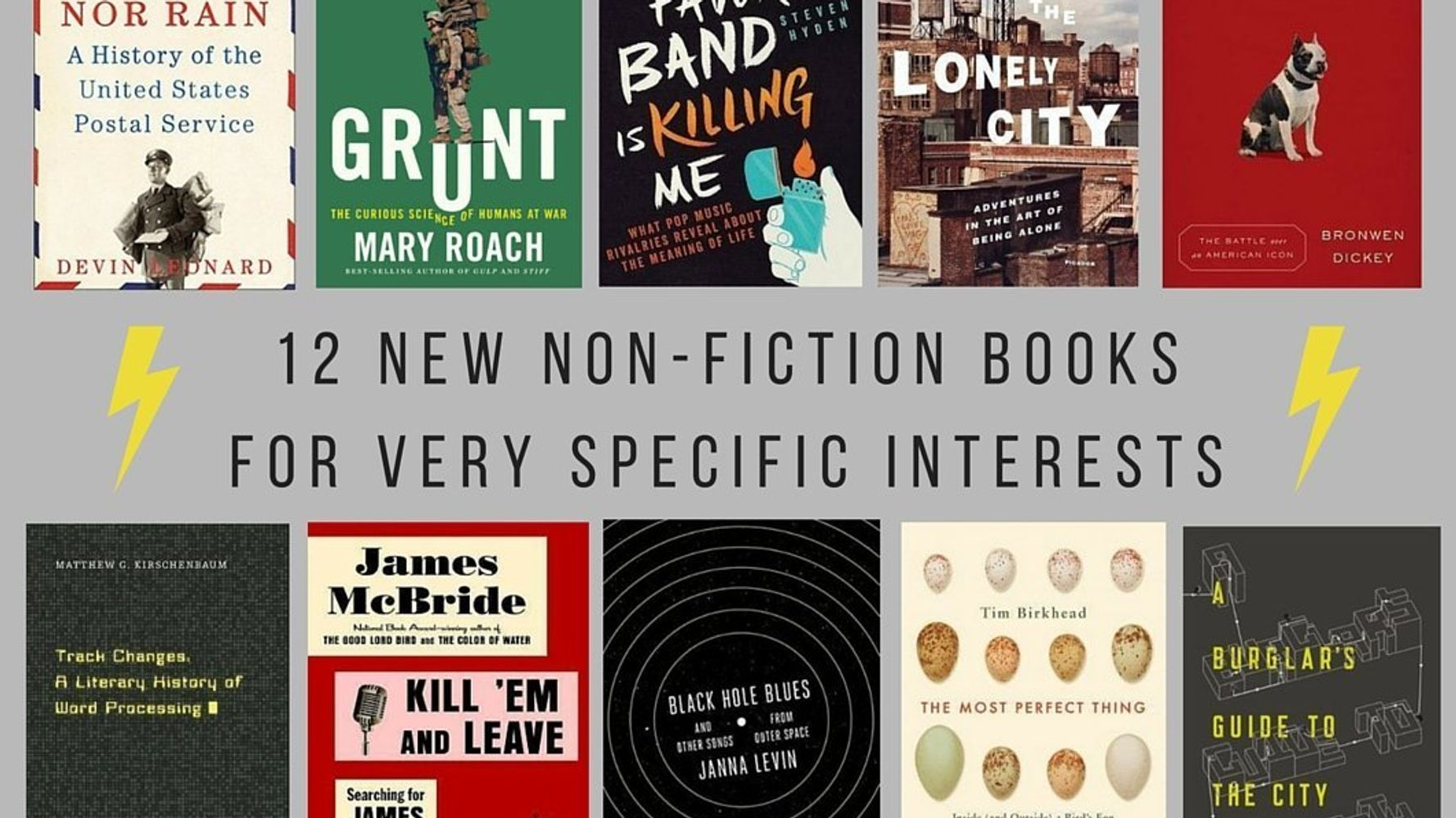 12 New And Upcoming Nonfiction Books For Your Very Specific