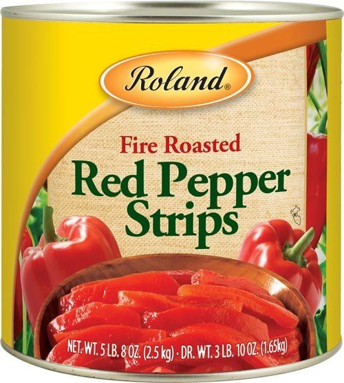 Roland Fire Roasted Red Pepper Strips