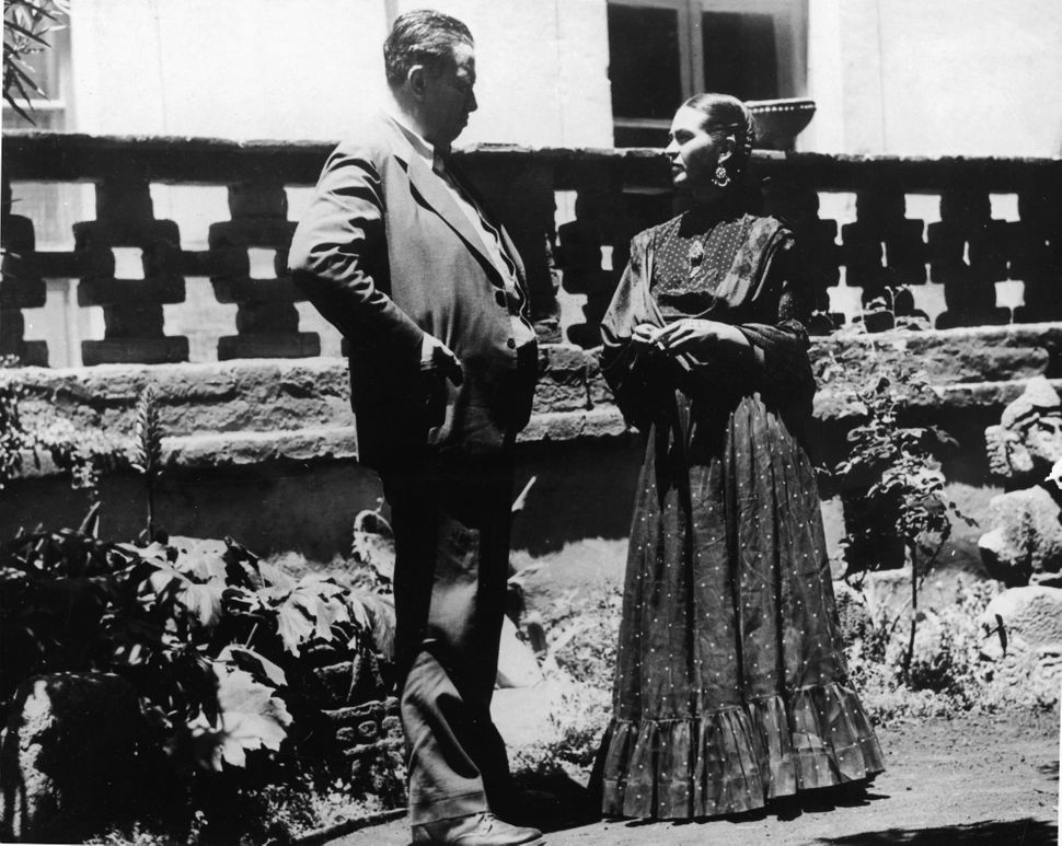 Kahlo and Rivera in 1937.