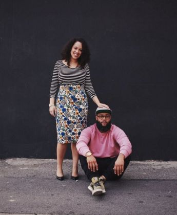 CRWNMAG co-founders Lindsey Day (L) andNkrumah Farrar.