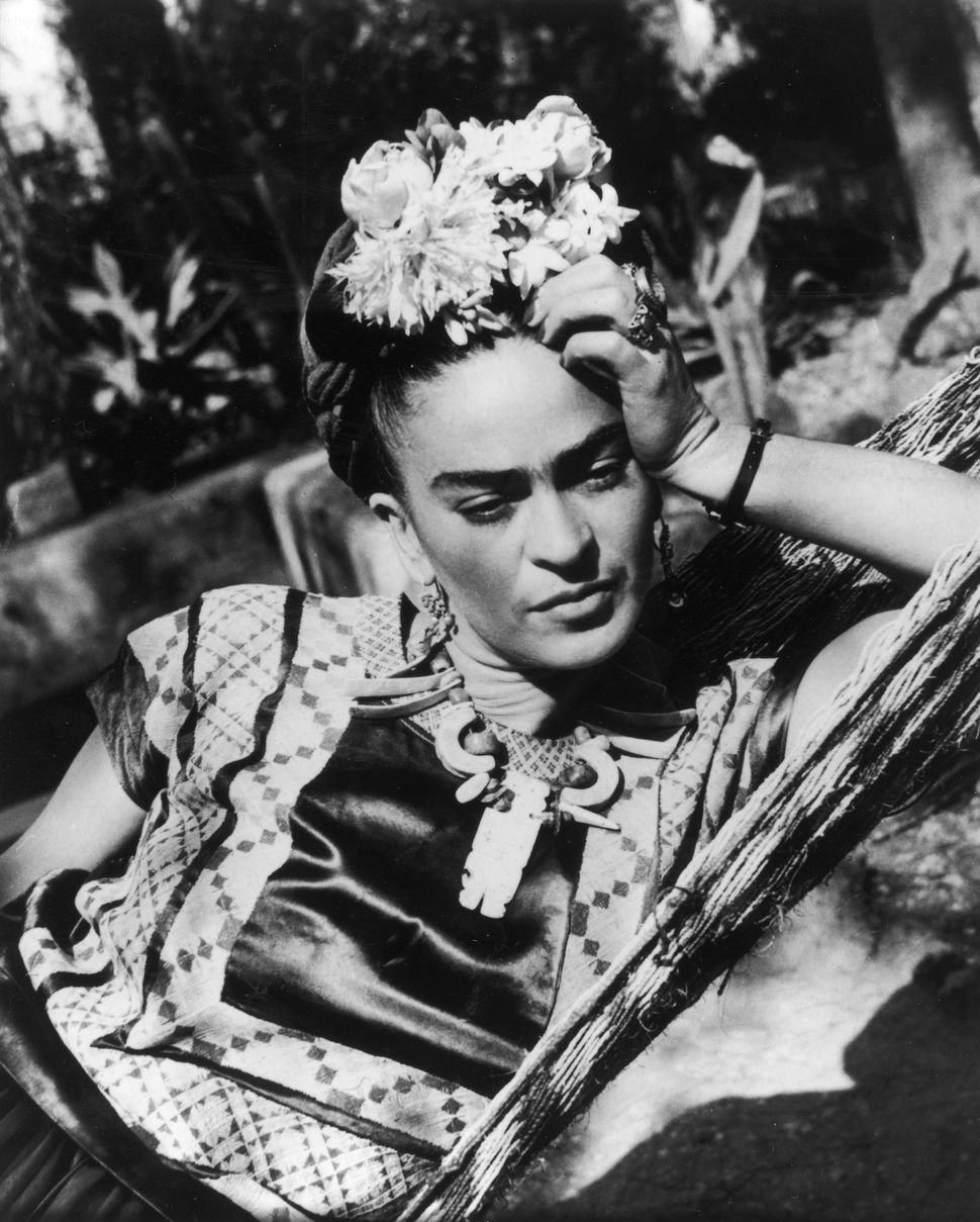 Kahlo, being the contemplative artist that she was.
