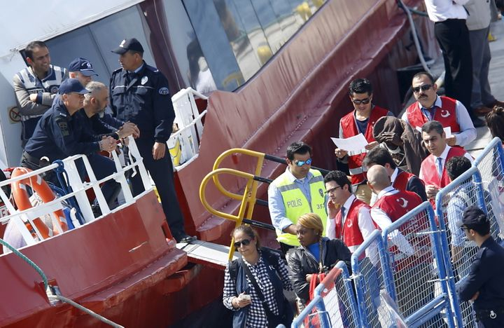 Thirteen out of 202 migrants who were deported from Greece to Turkey this weekdidn't get a chance to apply for asylum b