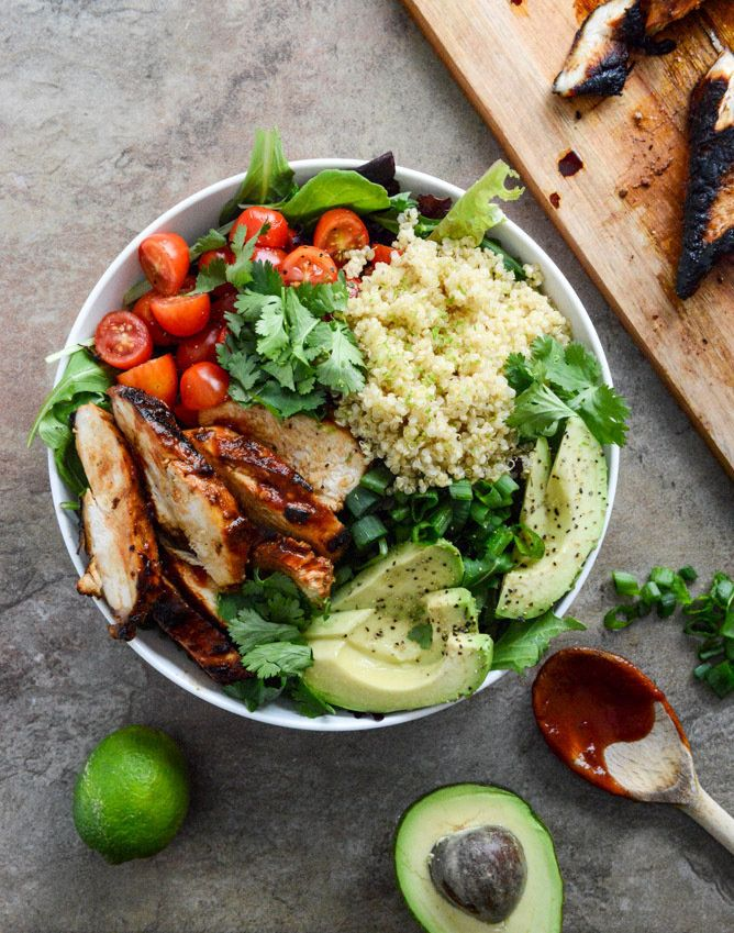 "Get the <a href=""http://www.howsweeteats.com/2014/01/honey-chipotle-chicken-bowls/"" target=""_blank"" data-beacon=""{""p"":{""mnid"":""entry_text"",""lnid"":""citation"",""mpid"":7}}"">Honey Chipotle Chicken Bowls recipe</a> from How Sweet It Is."