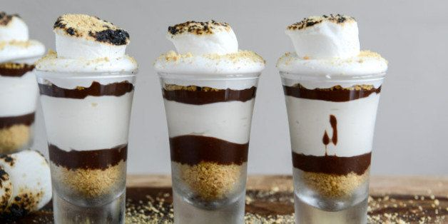 "Get the <a href=""http://www.howsweeteats.com/2013/08/no-bake-smores-cheesecakes/"" target=""_blank"" data-beacon=""{""p"":{""mnid"":""entry_text"",""lnid"":""citation"",""mpid"":12}}"">No Bake S'mores Cheesecakes recipe</a> from How Sweet It Is."
