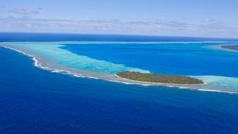 French Polynesia, Austral Islands, Raivavae island (aerial view)
