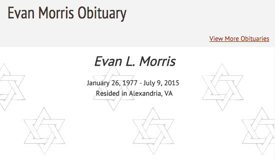 Evan Morris' obituary.