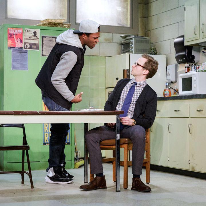 "Brandon J. Pierce (left) and Ryan Spahn star in ""Exit Strategy."""