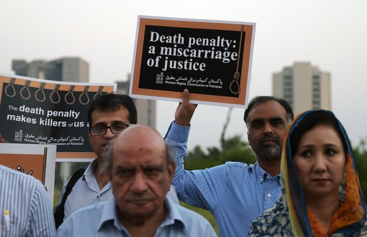 Pakistan has one of the world's highest death penalty rates.
