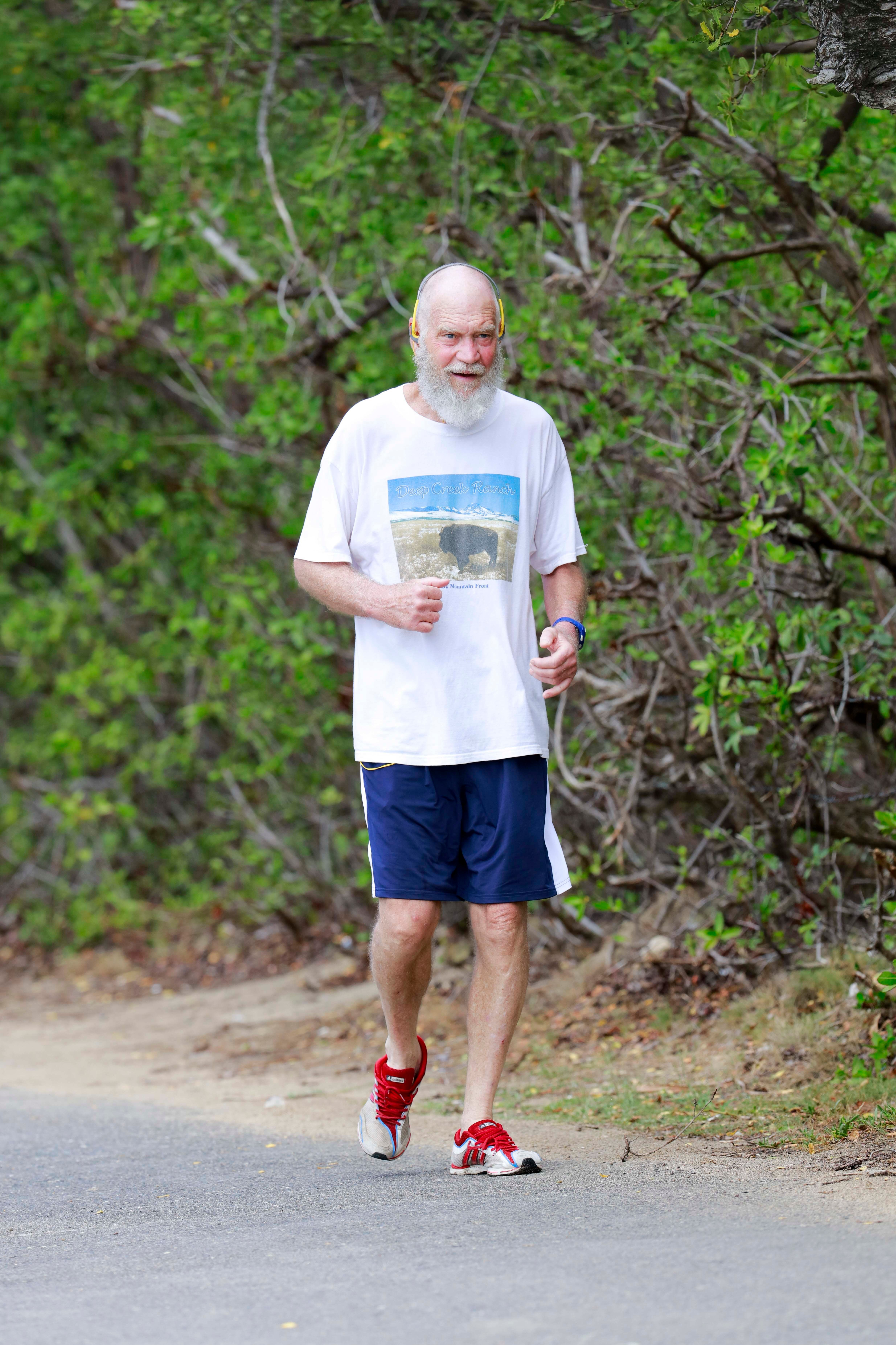 David Letterman spotted on vacation in St. Barts on March 25, 2016.