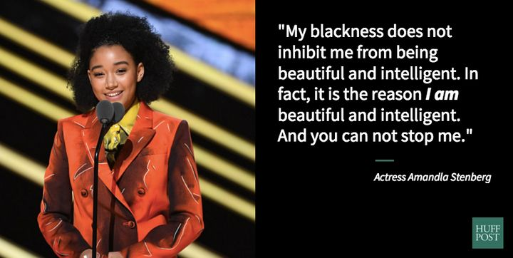 Amandla Stenberg delivers a superb speech onstage at Black Girls Rock!