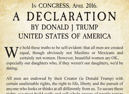 Donald Trump Issues Updated Declaration Of Independence To US Congress