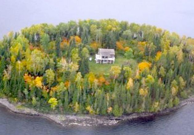 Frypan Island a 6.5 acre island with a three-bed cottage in Ontario, Canada, available for