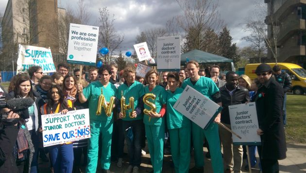 'Green Wing' Stars Join Striking Junior Doctors On The Picket