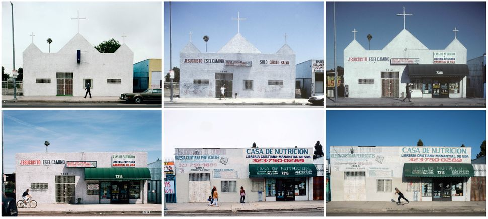 7316 South Broadway, Los Angeles, shown in 1992, 1996, 1999, 2000, 2012 and 2014.
