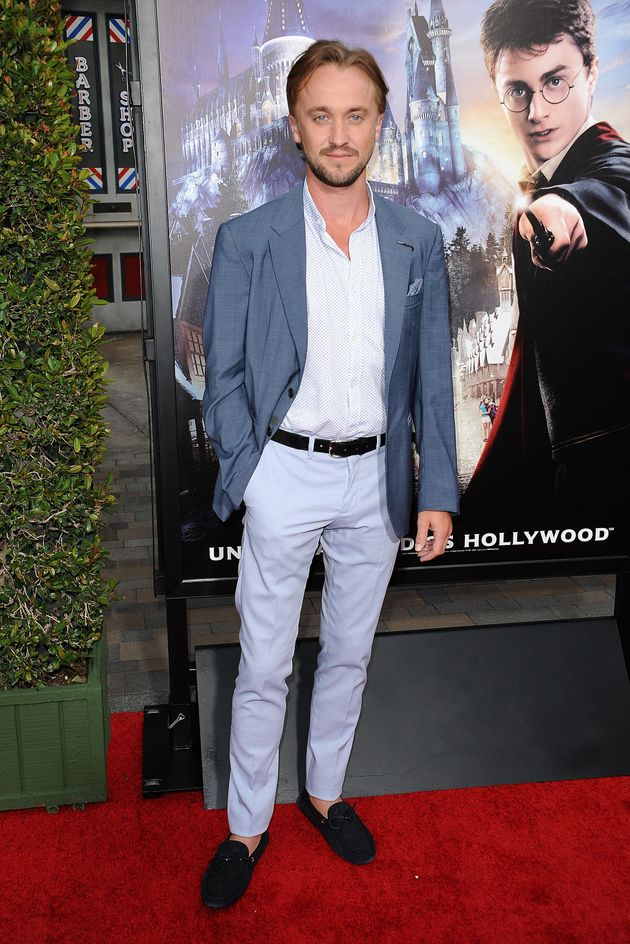 Actor Tom Felton attends the opening of 'The Wizarding World of Harry Potter' at Universal Studios Hollywood...