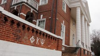 CHARLOTTESVILLE, VA - DECEMBER 6: The Phi Kappa Psi fraternity house is seen on the University of Virginia campus on December 6, 2014 in Charlottesville, Virginia. On Friday, Rolling Stone magazine issued an apology for discrepencies that were published in an article regarding the alleged gang rape of a University of Virginia student by members of the Phi Kappa Psi fraternity. (Photo by Jay Paul/Getty Images)