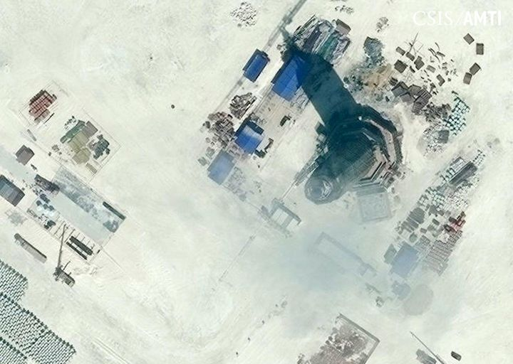 China has started operating a lighthouse on Subi Reef, one of its artificial islands in the contested South China Sea.