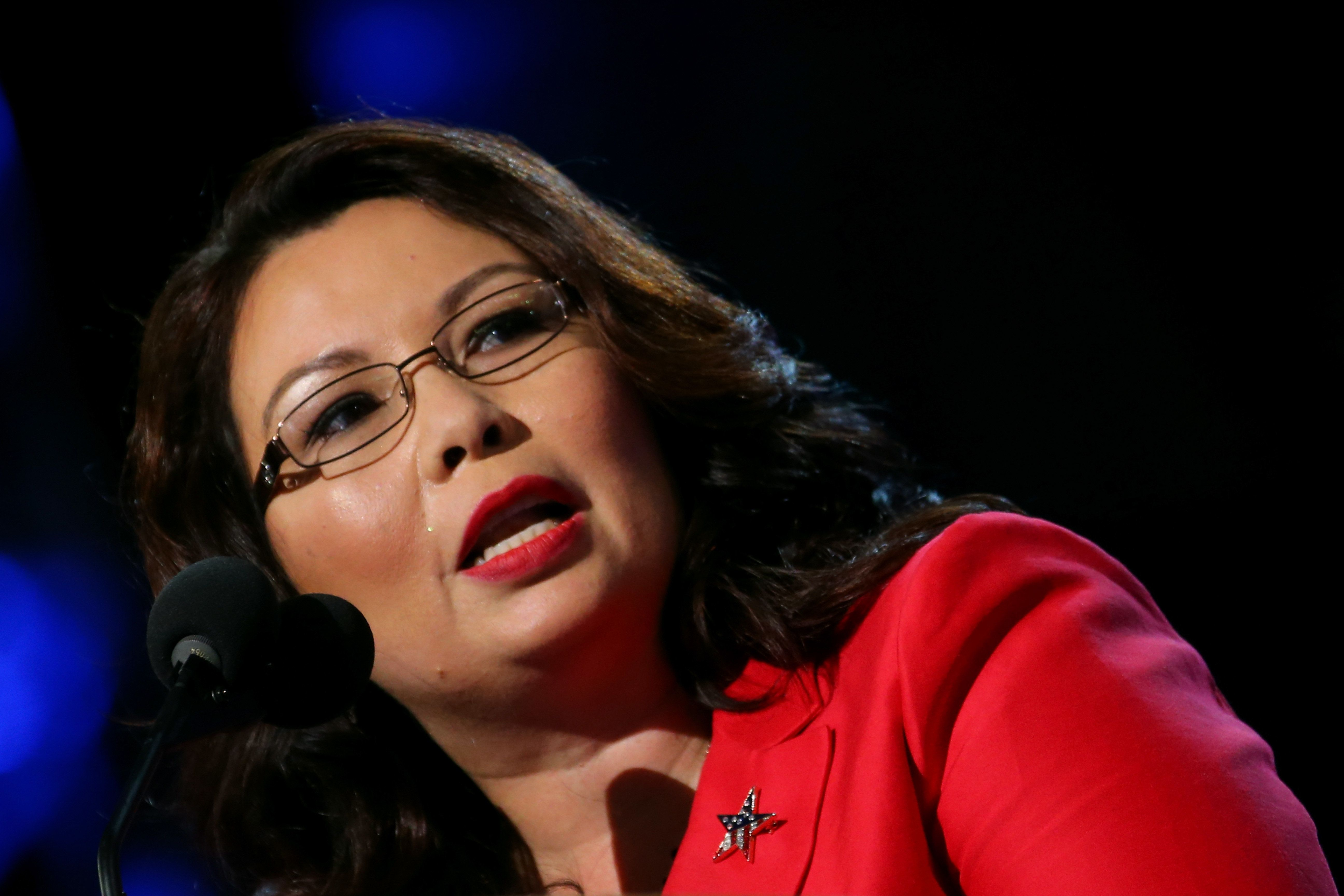 CHARLOTTE, NC - SEPTEMBER 04:  Illinois nominee for Congress Tammy Duckworth speaks during day one of the Democratic National Convention at Time Warner Cable Arena on September 4, 2012 in Charlotte, North Carolina. The DNC that will run through September 7, will nominate U.S. President Barack Obama as the Democratic presidential candidate.  (Photo by Joe Raedle/Getty Images)