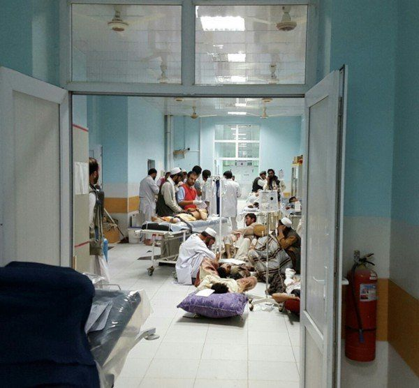 The hospital witnessed an increase in activity in the week leading up to the U.S. airstrike.Over 130 patients poured th