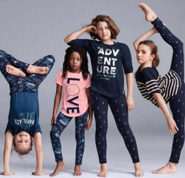 This Gap Kids image has divided