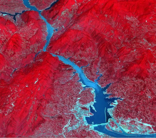 The Three Gorges Dam spans the Yangtze River in east-central China. It's the world's largest power station in terms of instal