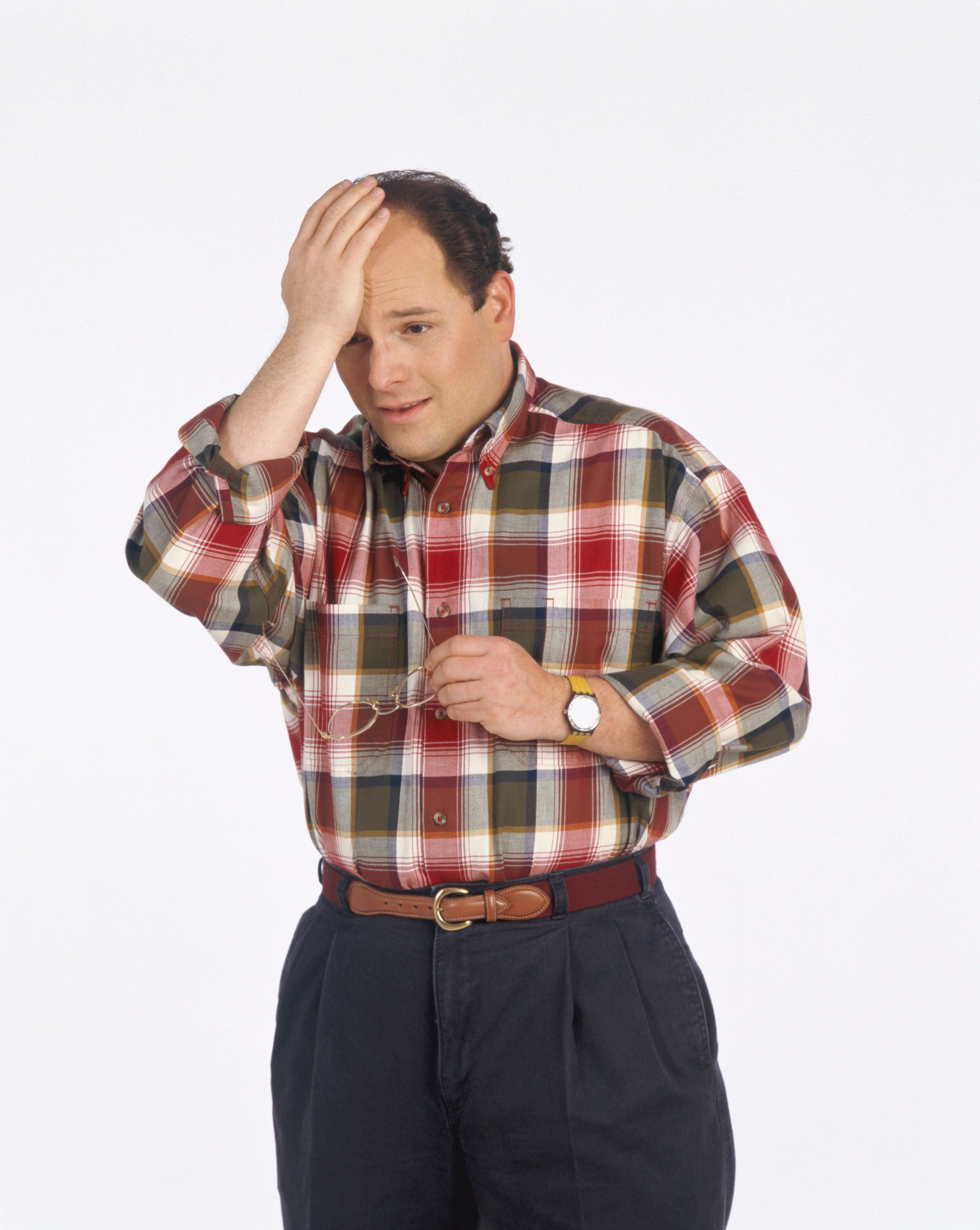 SEINFELD -- Season 5 -- Pictured: Jason Alexander as George Costanza  (Photo by George Lange/NBC/NBCU Photo Bank via Getty Images)