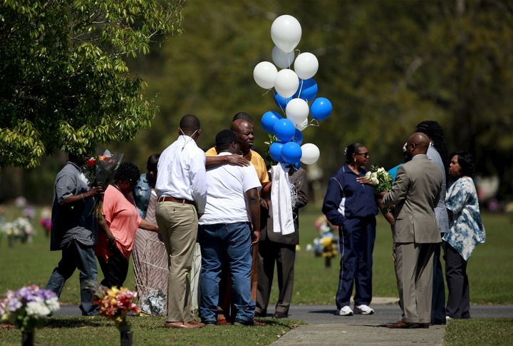 Relatives and friends gathered to remember Walter Scott.