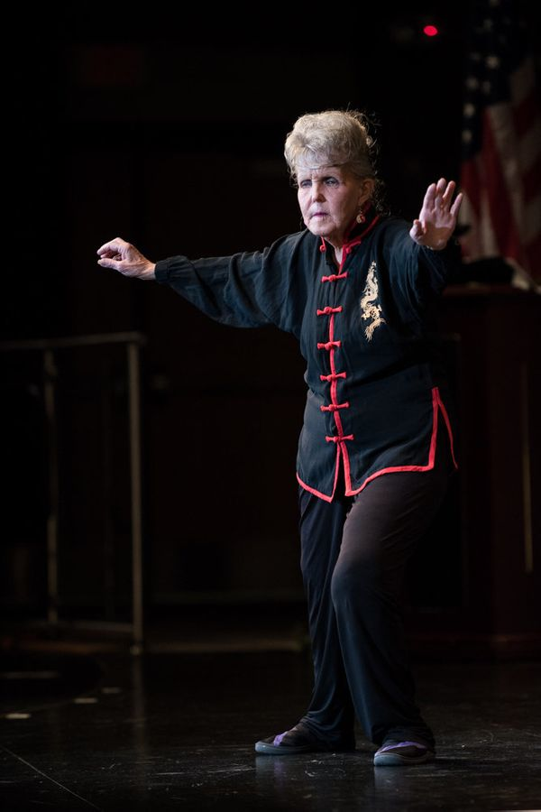 Sylvia Cannon of Wickenburg, Arizona, performing during the talent competition.