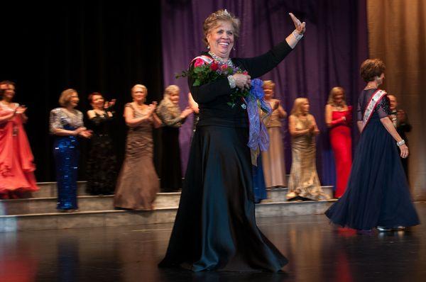 Jessica Klebanow, Ms. Senior Arizona 2015, onstage.