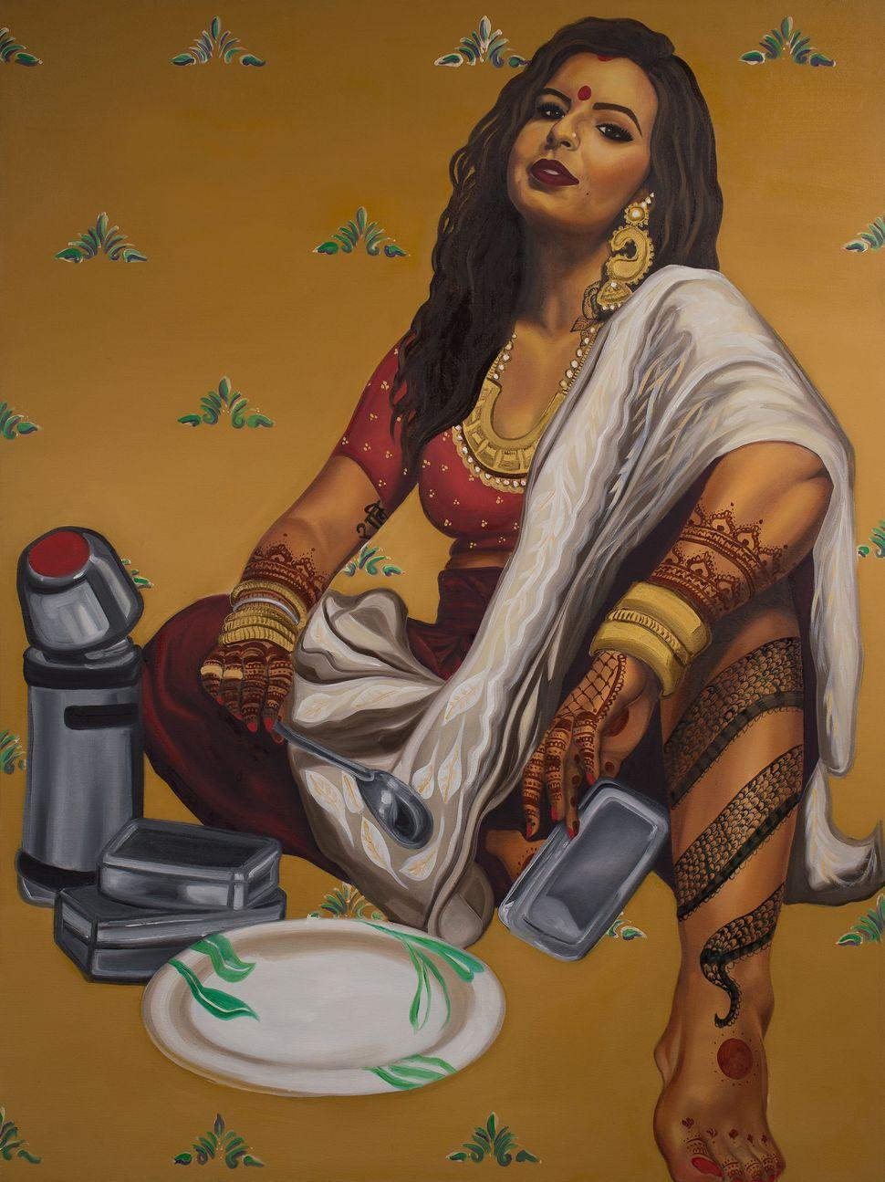 This Feminist Artist Paints Indian Women As Badass Pinup Models   HuffPost