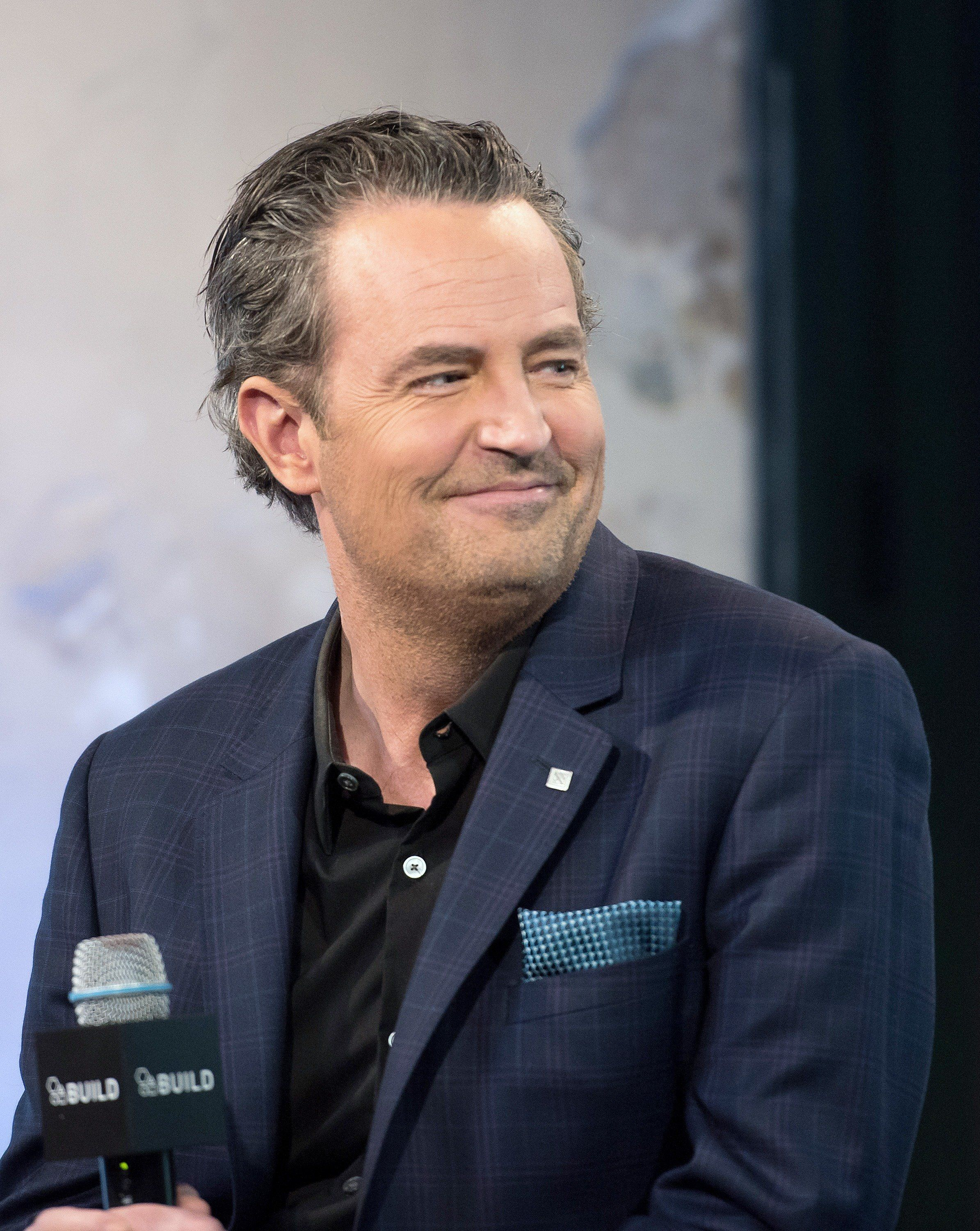 NEW YORK, NEW YORK - APRIL 05:  Actor Matthew Perry attends the AOL Build series to discuss 'The Odd Couple' at AOL Studios in New York on April 5, 2016 in New York City.  (Photo by Mike Pont/WireImage)